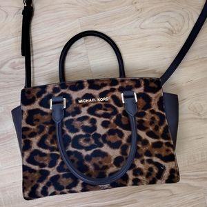 Michael Kors Brown/Cheetah Shoulder Bag